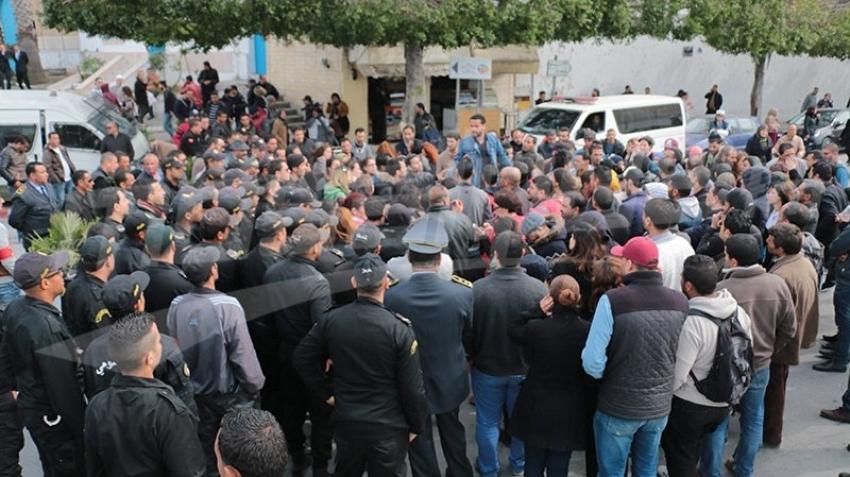 وقفة احتجاجية للمفروزين أمنيا بالقصبة