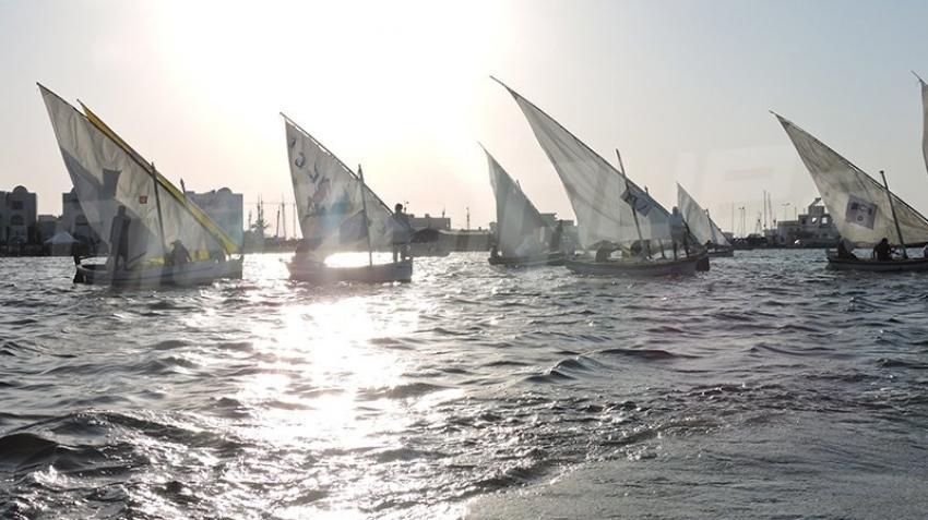 جربة : أجواء تظاهرة المراكب الشراعية في دورتها الثانية