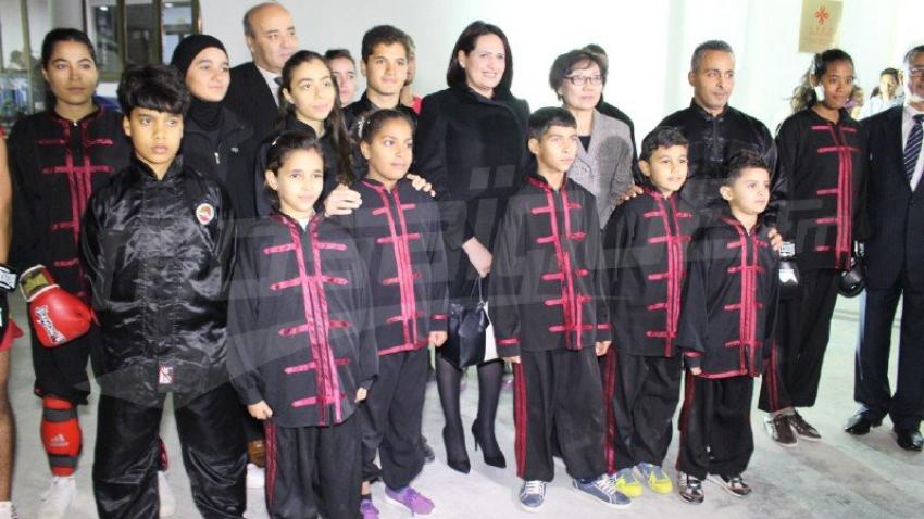ماجدولين الشارني تدشن المركز الثقافي والرياضي بالمنزه السادس