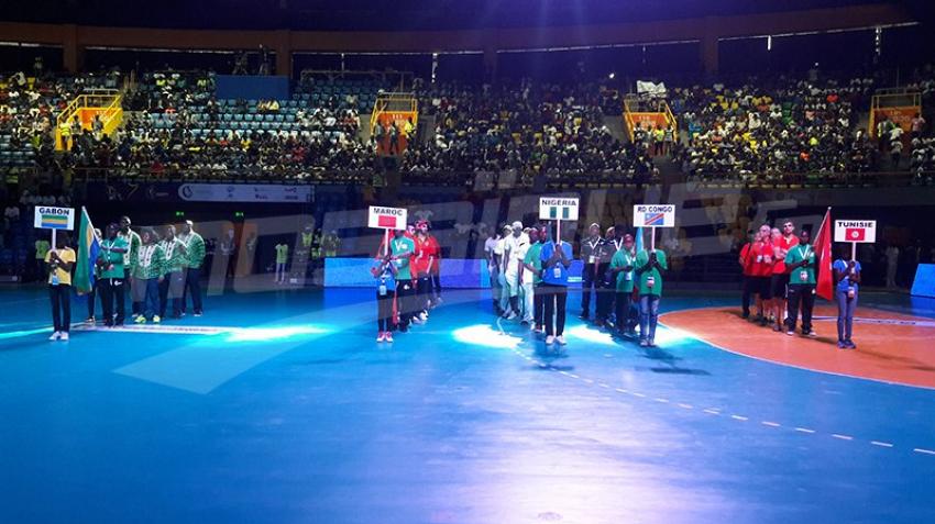 حفل افتتاح بطولة افريقيا للامم لكرة اليد