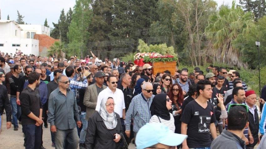 Funérailles de la militante Maya Jribi à Radés