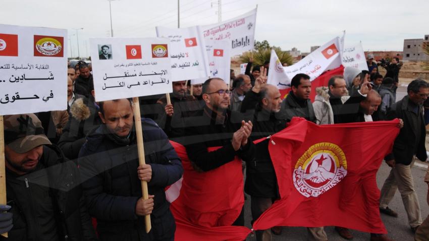 Journée de colère des enseignants et des élèves dans les régions