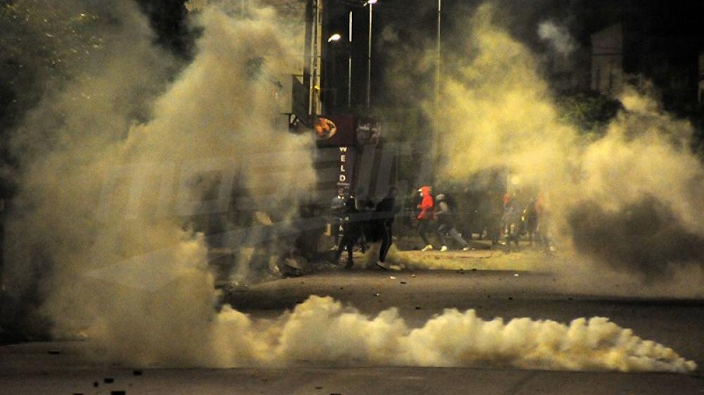 Reprise des affrontements à la cité Ettadhamen