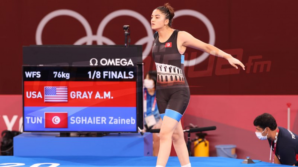 JO #Tokyo2020 : La lutteuse Zeyneb Sghaier joue le 2e tour de repêchage