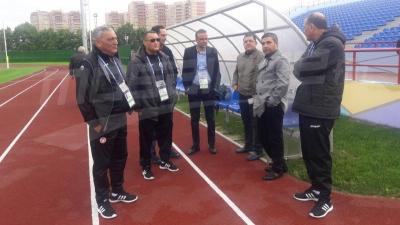 EN: première séance d'entrainement à Moscou