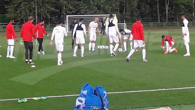 La séance d'entraînement de l'EN au stade Stroitel à Moscou