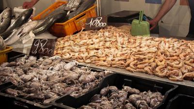 السوق المركزية: تراج ملحوظ في أسعار الأسماك