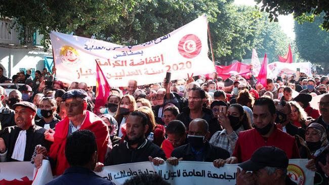 مسيرة أعوان العدلية من قصر العدالة نحو قصر الحكومة