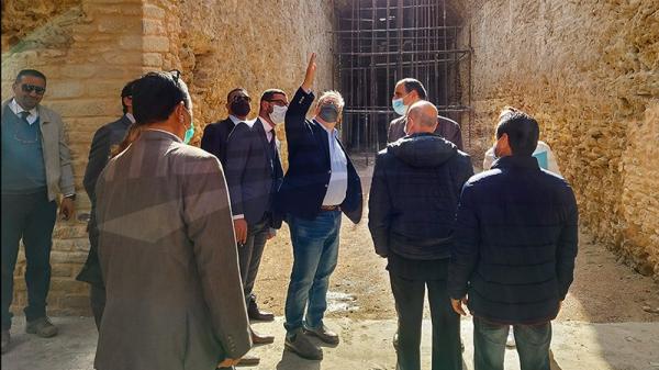 سفير أمريكا يطلع على تقدم أشغال ترميم الموقع الأثري بأوذنة