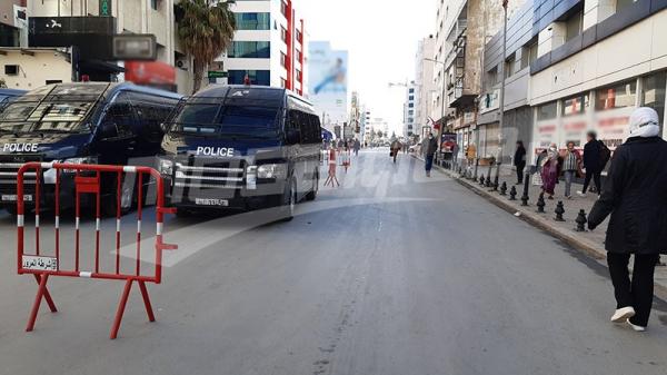 بعد فضّ اعتصام الدستوري الحرّ: جميع منافذ 'خير الدين باشا' مغلقة مع تواجد أمني مكثّف
