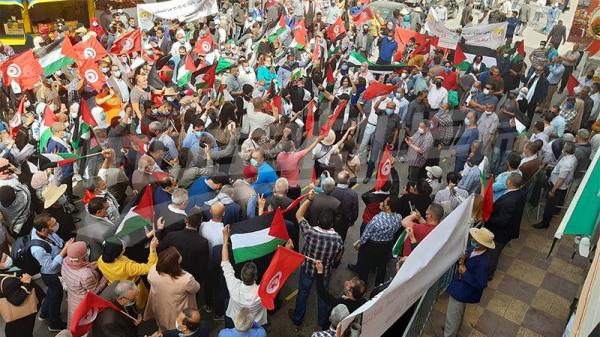 وقفات تضامنية مع القضية الفلسطينية في مختلف الجهات