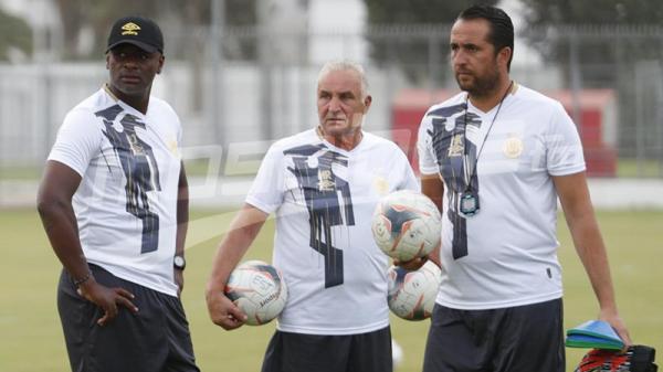راضي الجعايدي من الحصة التدريبية للترجي الرياضي التونسي