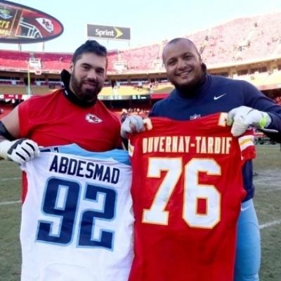 مهدي عبد الصمد أول  محترف تونسي في كرة القدم الأمريكية