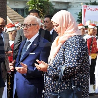 Essebsi inaugure la place du martyr Mohamed Brahmi