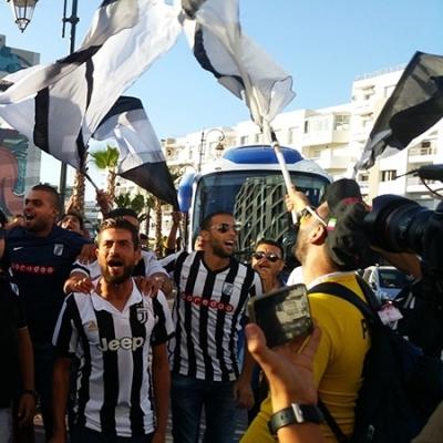 Rabat: les joueurs du CSS quittent l'hôtel pour se rendre au stade