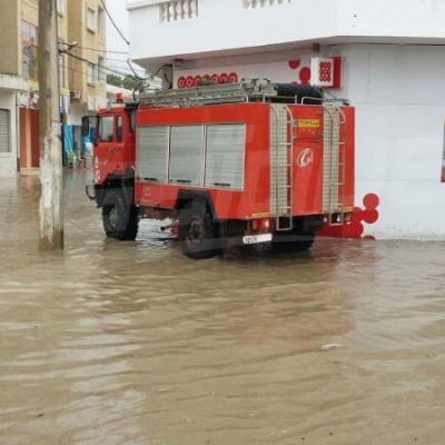بوسالم تغرق في مياه الأمطار