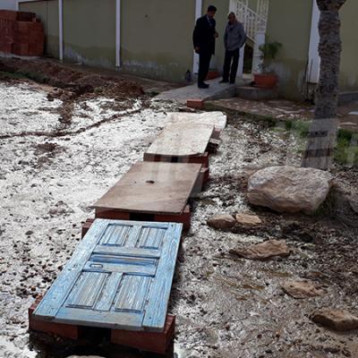 Ghomrassen: deux maisons à Mozdalfa, inondées par une source d'eau souterraine