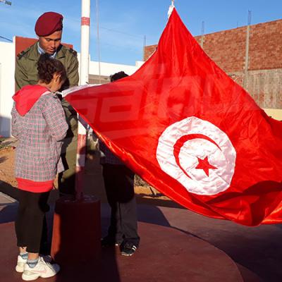 Une minute de silence à l'école Al Hidaya à Tataouine à la mémoire du martyr Ben Belgacem