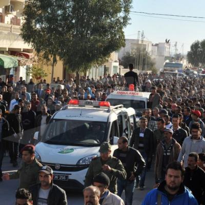 بئر مشارقة : تشييع جثمان الشهيد محمد بن بلقاسم إلى مثواه الأخير