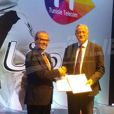 إمضاء اتفاقية سي آس آس موبايل بين النادي الصفاقسي واتصالات تونس