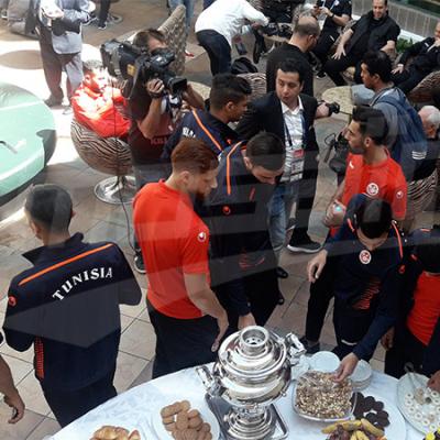 أجواء العيد في مقر إقامة نسور قرطاج بموسكو
