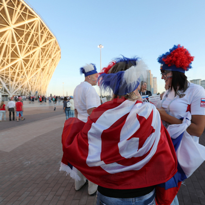 جماهير المنتخب التونسي في روسيا قبل انطلاق مباراتنا ضد انجلترا