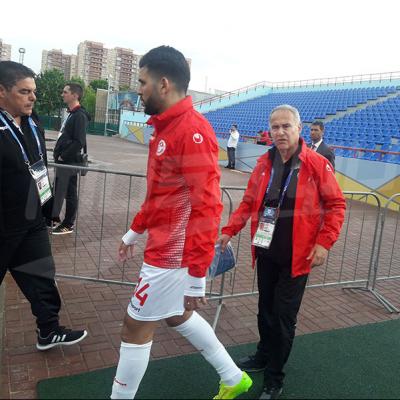 الحصة التدريبية للمنتخب التونسي مساء اليوم في ملعب سترويتال بموسكو