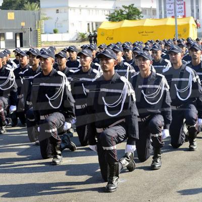 Cérémonie de fin de formation des sergents de la protection civile
