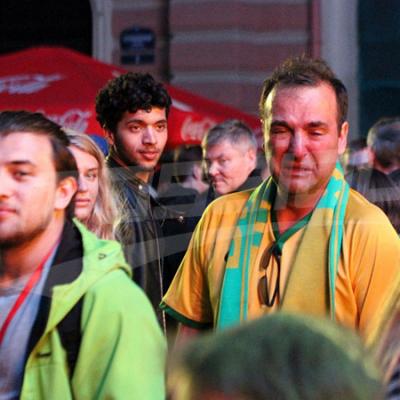 Les supporters suivent les matchs de leurs équipes à Saint-Pétersbourg