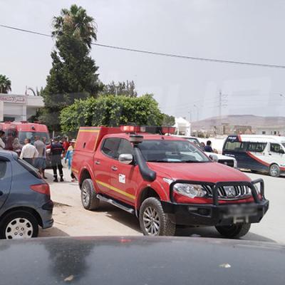 Arrivée des dépouilles des victimes de l'attentat terroriste de Ghardimaou à l'hôpital régional de Jendouba