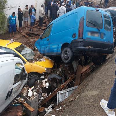 أضرار فادحة تخلفها الأمطار في الطرقات والمنازل بالمحمدية