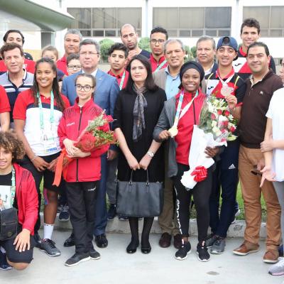 Majdouline Cherni accueille la délégation Tunisienne des jeunes Olympiques