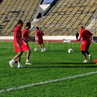 Dernière séance d'entraînement de l'EN avant le départ vers l'Egypte