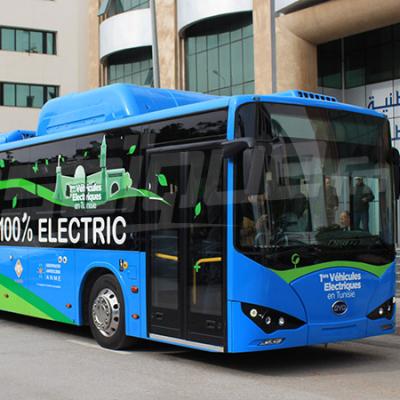 الكشف عن أوّل حافلة تعمل بالطاقة الكهربائية في تونس