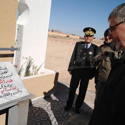 Le ministre de la défense pose la 1e pierre de la base aérienne de Remada