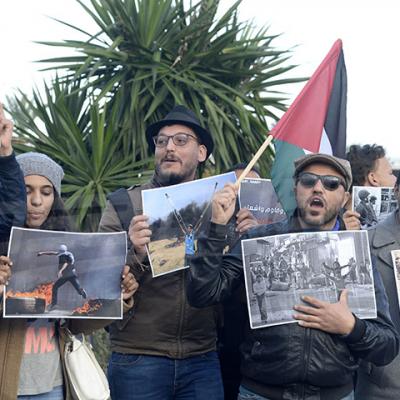 Un rassemblement protestataire devant le ministère du Tourisme