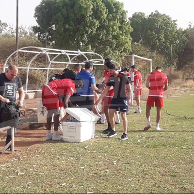 Séance d'entraînement de l'ESS à Ouagadougou