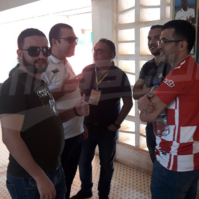 Arrivée de la délégation de l'ESS au stade