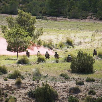 جبل سمامة:عناصر الفوج 11 مشاة بدعم عسكري بري وجوي تتصدى للإرهابين