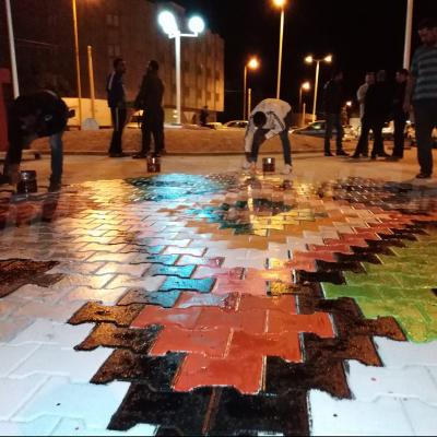 Pour la relance du tourisme: les jeunes de Tataouine embellissent l'entrée de la ville