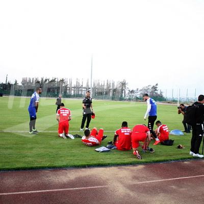 Première séance d'entraînement de la Tunisie en Egypte