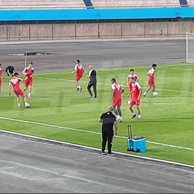 Séance d'entraînement de l'EN avant le match contre le Nigéria