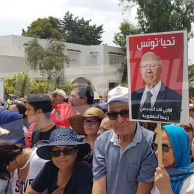 التونسيون يودّعون رئيسهم
