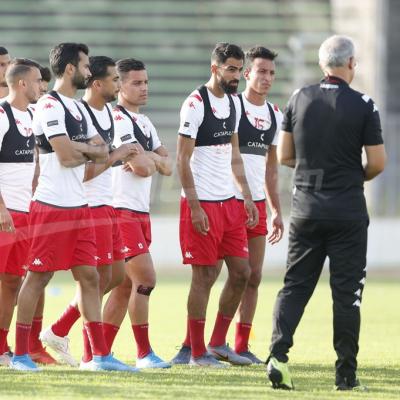 Equipe nationale : Séance d'entraînement des joueurs locaux