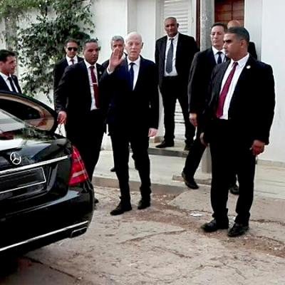 هكذا غادر قيس سعيّد منزله في إتّجاه البرلمان