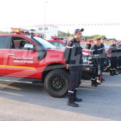 Hichem Fourati assiste à la cérémonie de remise d'un don allemand
