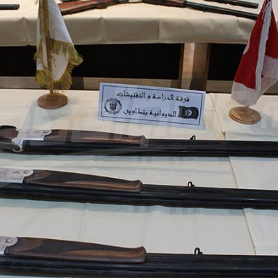 رمادة: حجز 19 بندقية صيد تركيّة الصنع