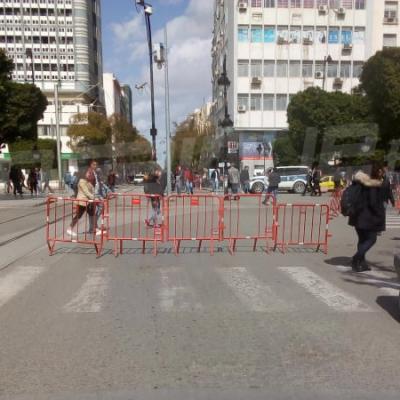 غلق شارع الحبيب بورقيبة وأنهج متفرعة عنه