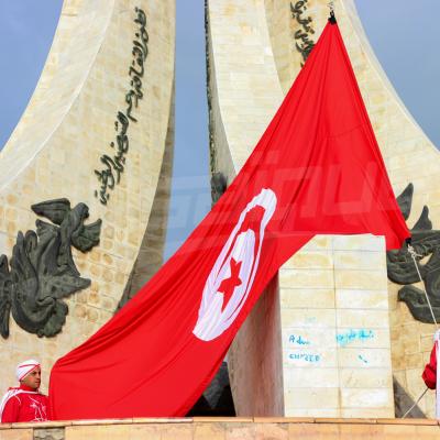 Levée du drapeau national à l'occasion de la 64e anniversaire de l'indépendance