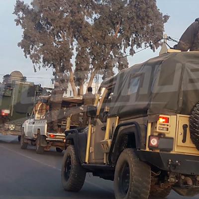 صور للإنتشار الأمني والعسكري ببنقردان